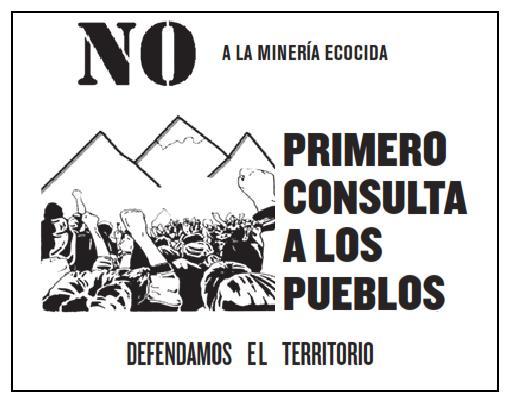 NO a la minería ecocida -cartel-