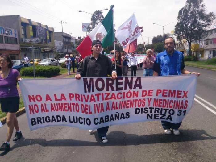 Ciudadanos libres de Neza dicen basta de mentiras. ¡No a la reforma energética y educativa!