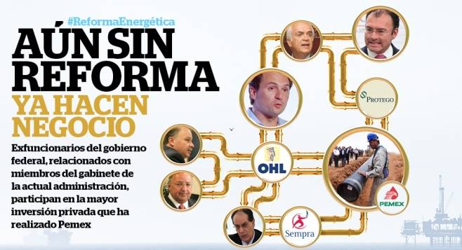 Funcionarios favorecidos por reforma de EPN
