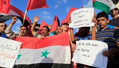 Palestinos apoyan a pueblo sirio