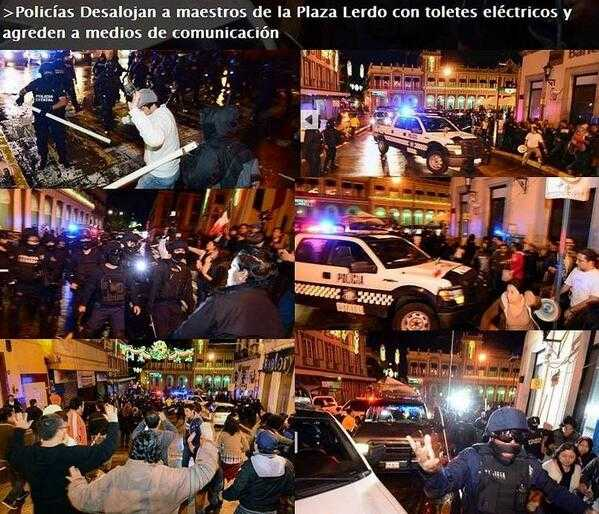 Desalojan maestros en la Plaza Lerdo de Xalapa