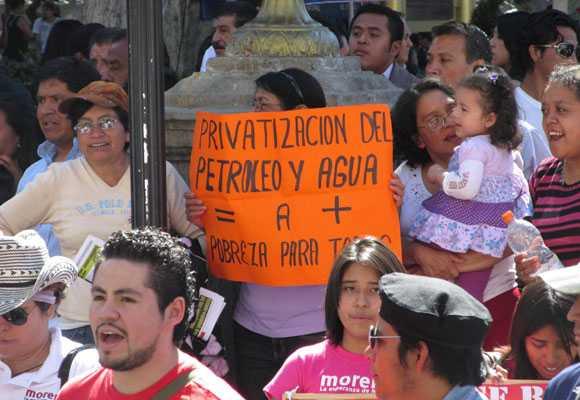 Morena en defensa del agua en Puebla