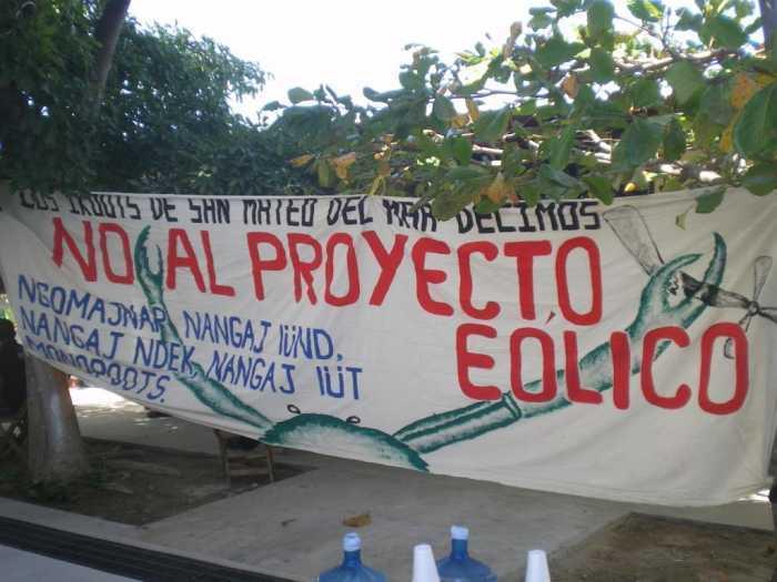 Comunidades indígenas se oponen a proyectos eólicos