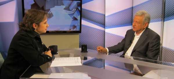 """""""Denunciaré a EPN en tribunales internacionales"""": AMLO con Aristegui"""