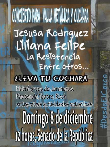 ¡Participa! en el concierto para valla y cuchara metálica #DesdeElCerco