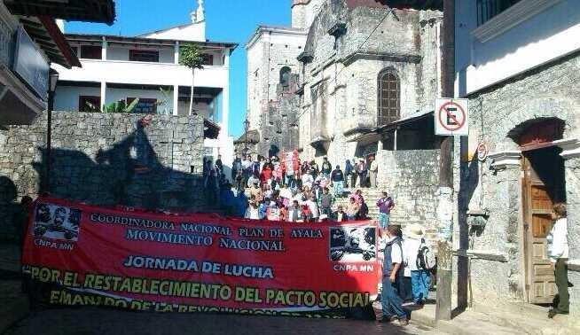 Inician las protestas vs megaproyectos en la Sierra Norte de Puebla.