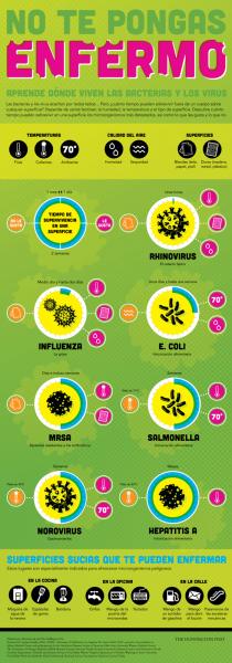¿Dónde están las bacterias y los virus?