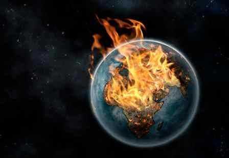 La tierra se oscurece, debido al calentamiento global