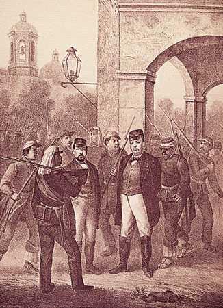 Fuerzas de Juan Álvarez derrotan, en Acapulco, a la escuadra imperialista. Huyen por mar