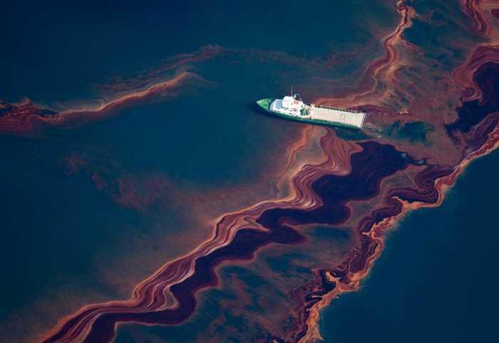 Derrame de combustible en el golfo de México