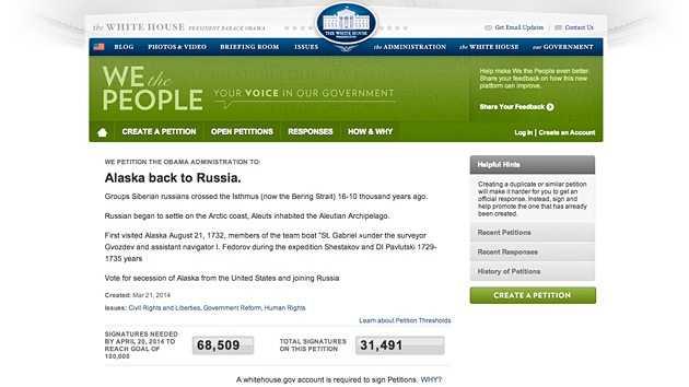 Estadounidenses quieren que Alaska se reincorpore a Rusia