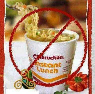 ¿Qué contiene la sopa instantánea Maruchan?