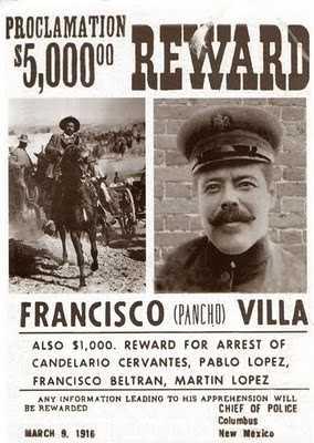 Pancho Villa invade Estados Unidos, el 9 de marzo de 1916
