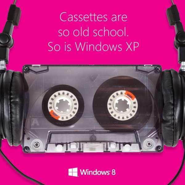 Microsoft compara Windows XP con cassettes