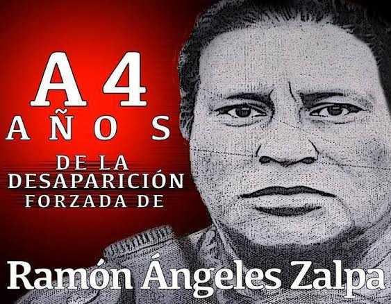 A cuatro años de la desaparición forzada de Ramón Ángeles Zalpa