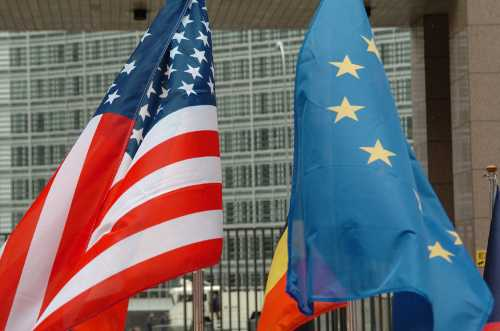 US and EU flags