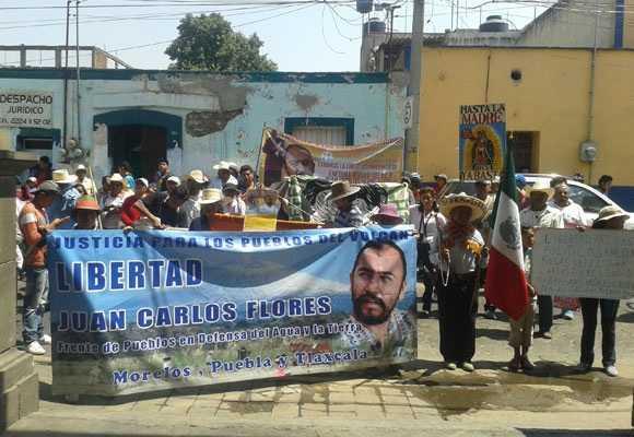 Exigen al gobierno de Moreno Valle liberación de activista que se opone a gasoducto