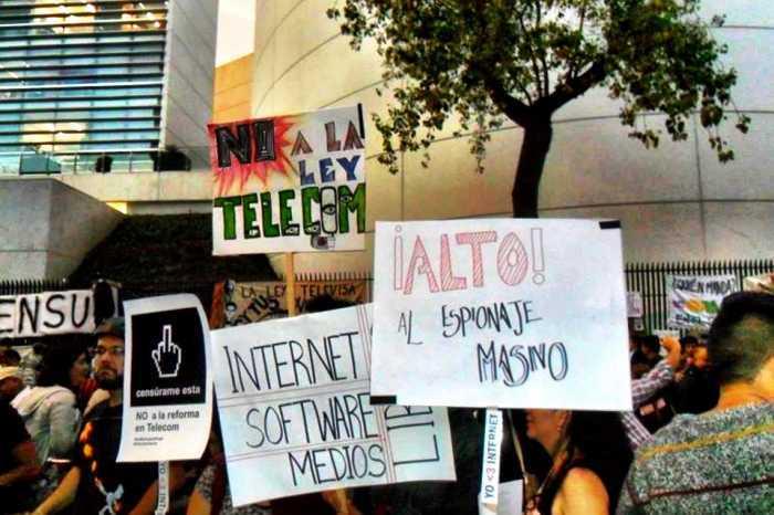 Ley Peña-Televisa, un atentado a las libertades: manifestantes