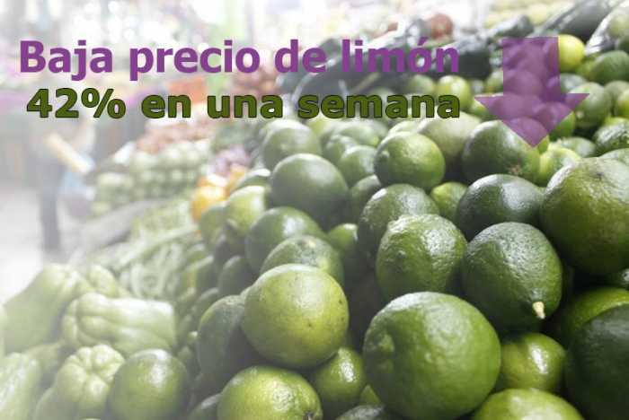 Limón baja de precio, ya se vende a 15 pesos