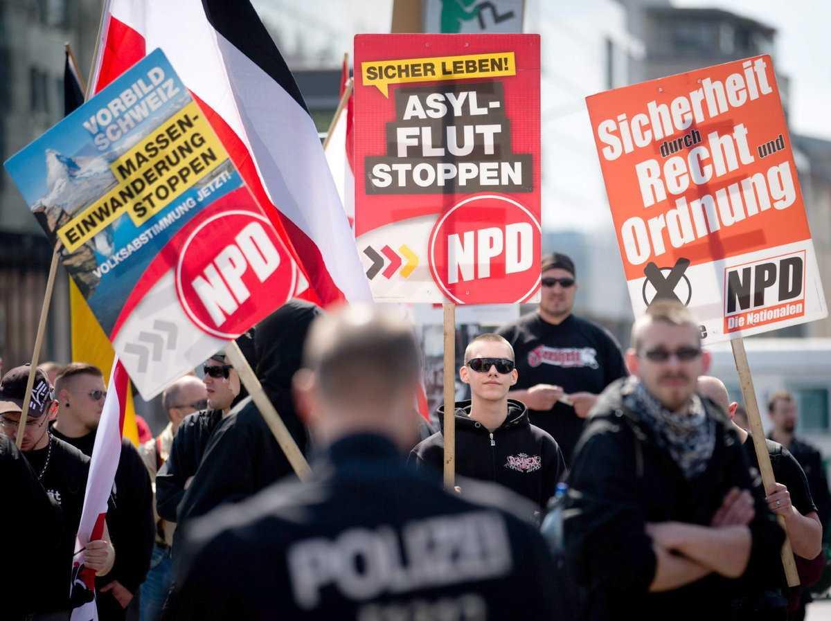 Altercado en Berlín por manifestación neonazi