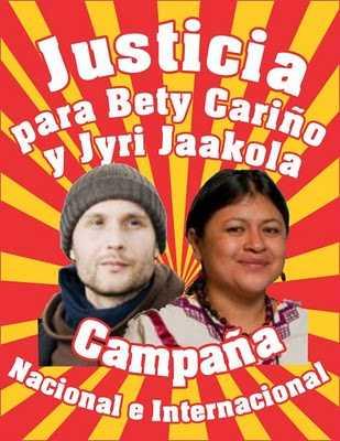 A cuatro años del asesinato de Bety Cariño y Jyri Jaakkola, 200 organizaciones exigen justicia