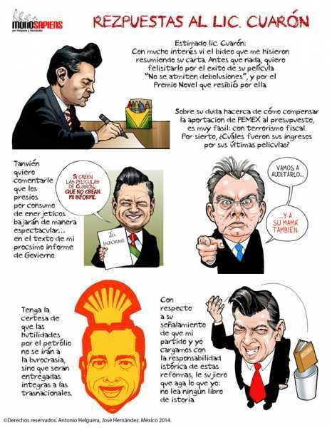 Respuestas al Lic. Cuarón, por Helguera y Hernández