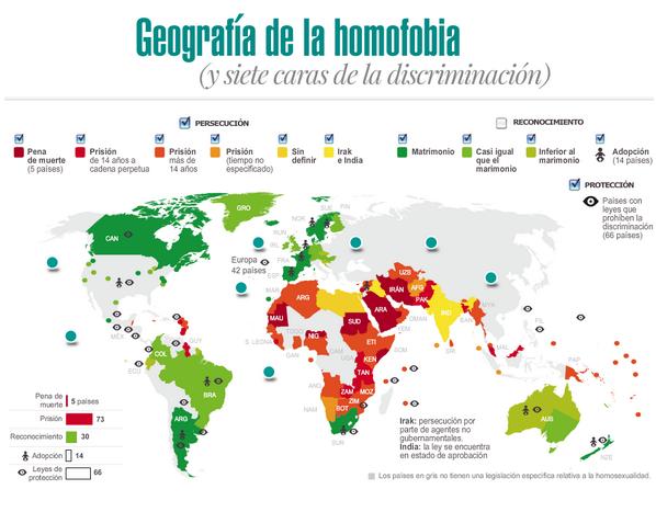 Mapa de la homofobia