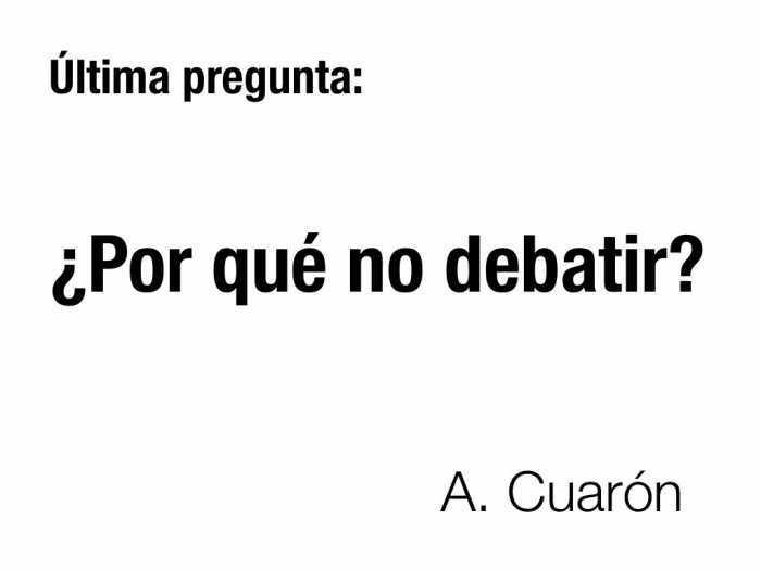 Pregunta Cuarón