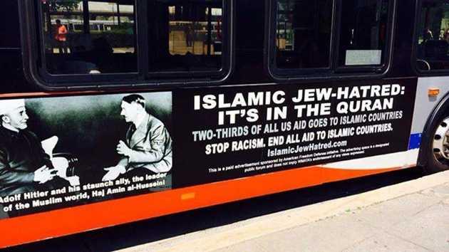 Campaña de publicidad en Estados Unidos vincula el islam con la ideología nazi