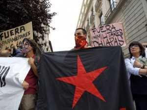 Protesta vs Peña Madrid