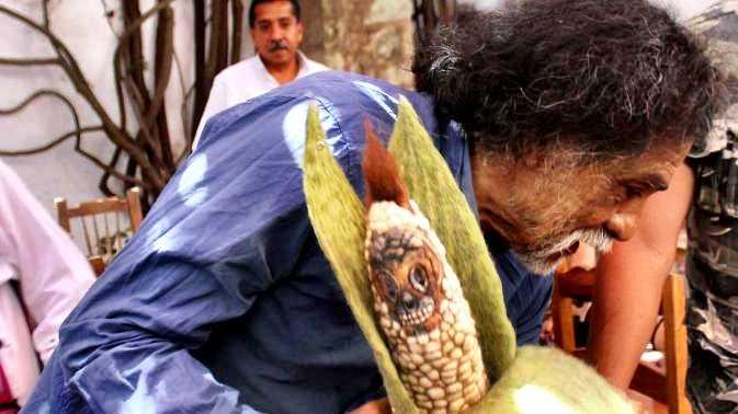 El artista plástico Francisco Toledo en contra del maíz transgénico