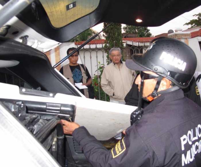 Policía municipal de Motul en Yucatán, confisca equipo de sonido