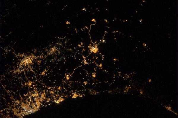 Astronauta publica foto de la Franja de Gaza vista desde el espacio