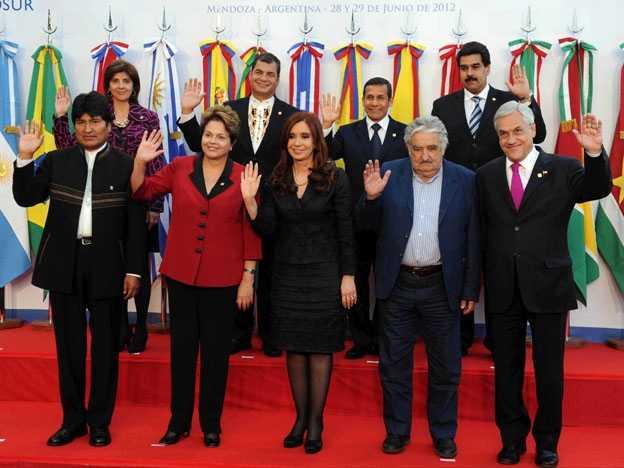 Mujica, Morales, Correa y Maduro juntos para celebrar independencia de Argentina
