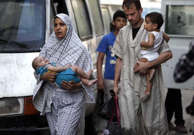 Ocho mil desplazados en Gaza tras incursión terrestre de Israel