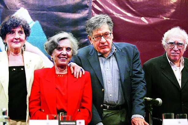 Elena Poniatowska,José Emilio Pacheco y Carlos Monsiváis  | Foto: La Jornada