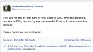 tuit de amlo vs facebook