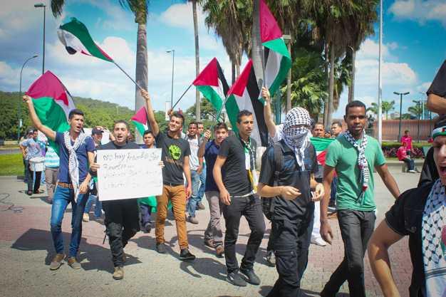 Venezuela se moviliza en respaldo al pueblo palestino