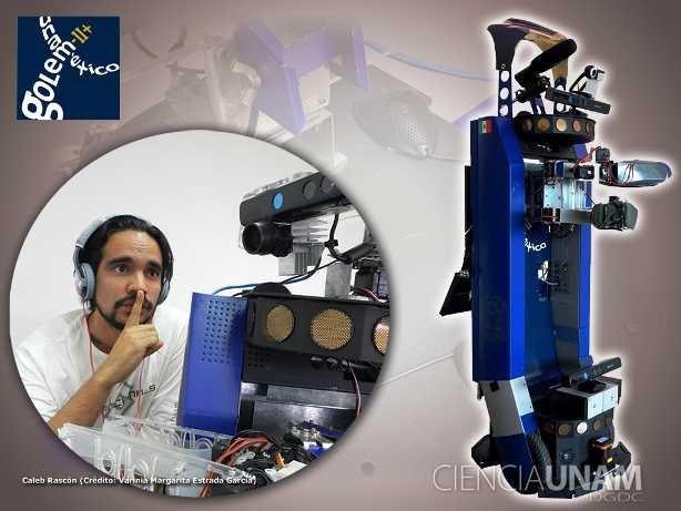 Un joven mexicano innovador en el campo de la audición robótica