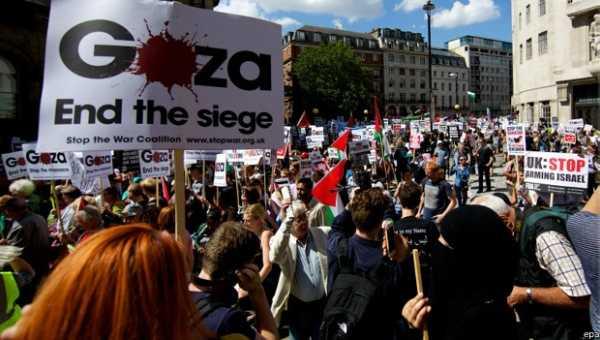 Miles marchan en Londres contra el genocidio de Israel en Gaza