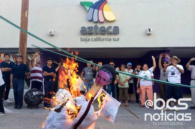 Repudian, frente a TV Azteca, proyecto minero