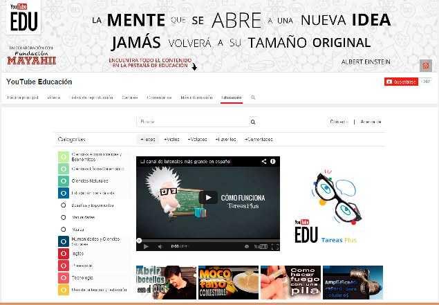 Youtube lanza canal de videos educativos