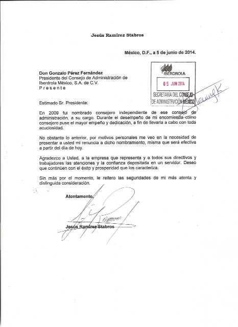 Carta-renuncia-Consejo-Iberdrola-JRS