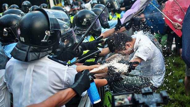 Manifestación estudiantil paraliza Hong Kong
