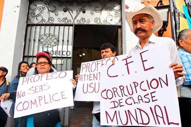 Miles de quejas ante Profeco por abusos de CFE