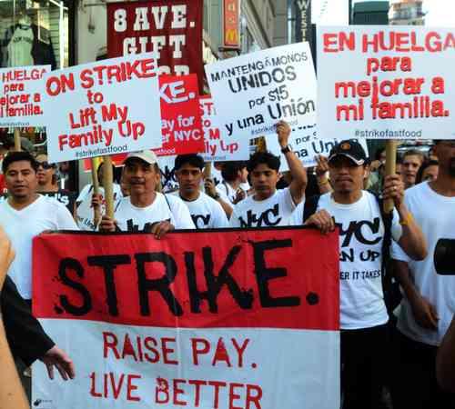 Protestan en Estados Unidos empleados de cadenas de comida rápida
