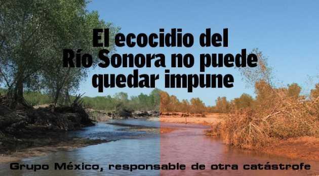 Debido a la contaminación del río Sonora crean frente contra Grupo México