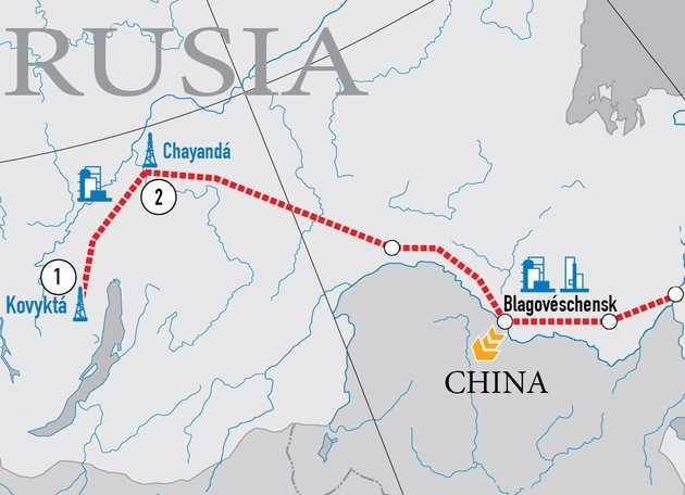 Rusia y China comienzan la construcción del mayor gasoducto del mundo