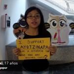 """""""México, despierta"""", piden estudiantes asiáticos por Ayotzinapa"""