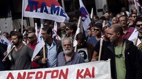 Miles de personas marchan en Grecia contra las políticas neoliberales